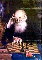 Portrait of chess player A. D.  Petrova, myasoyedov