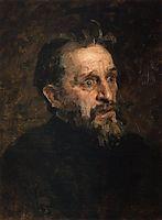 Portrait of I. Repin (study), 1883, myasoyedov