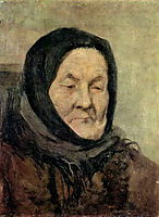 Portrait of old woman, myasoyedov