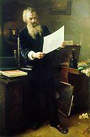 Portrait of Shishkin , 1891, myasoyedov