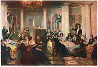 Pushkin and his friends listen to Mickiewicz in the salon of Princess Zinaida Volkonskaya, 1907, myasoyedov