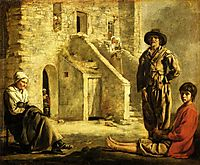 Peasants at their Cottage Door, c.1645, nain