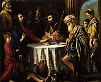 The Supper at Emmaus, 1645, nain