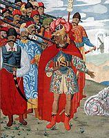 Illustration for -Aeneid- by I. Kotlyarevsky, 1919, narbut