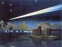 Landscape with a comet, 1910, narbut