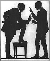 Self-Portrait (Conversation of Narbut and L. Grabuzdov), 1919, narbut