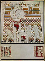 Sheet -B- from the album -Ukrainian alphabet-, 1919, narbut