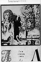 Sheet -L- from the album -Ukrainian alphabet-, 1917, narbut