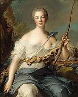 Jeanne-Antoinette Poisson, Marquise de Pompadour as Diana, 1746, nattier