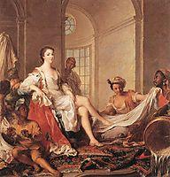 Mademoiselle de Clermont as a Sultana, 1733, nattier