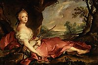 Portrait of Mary Adelaide of France as Diana 1745, nattier