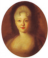 Crown princess Elizabeth, the future empress, 1741, nikitin