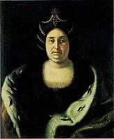 Tsarina Praskovia Fedorovna Saltikova, widow of Ivan V, nikitin