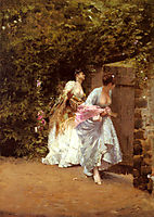 Back From Dance, 1870, nittis