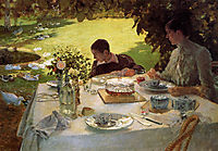 Breakfast in the Garden, 1883, nittis