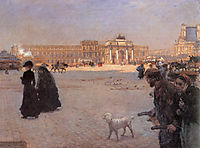 La Place du Carrousel, Paris: The Ruins of the Tuileries, 1882, nittis