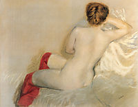 Nude with Red Stockings, 1879, nittis