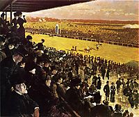 The Races at Longchamps from the Grandstand, 1883, nittis