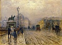 Rue de Paris with Carriages, nittis