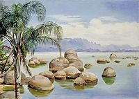 Palm Trees and Boulders in the Bay of Rio, Brazil, 1873, north