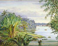 View of Kuching and River, Sarawak, Borneo, 1876, north