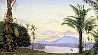 View of Matang and River, Sarawak, Borneo, 1876, north