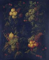 Fruit Garland Encircling a Relief, nuzzi