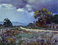 Approaching Rain, Southwest Texas, 1922, onderdonk