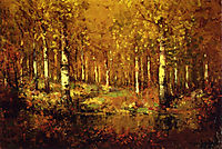 Autumn Birches, Central Park, 1909, onderdonk
