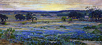 Bluebonnets at Dusk, onderdonk