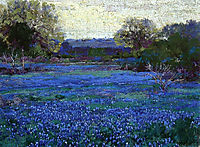 Bluebonnets on a Grey Day, 1922, onderdonk