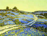 Bluebonnets, Late Afternoon, onderdonk