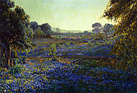 Bluebonnets at Late Afternoon, near La Grange, 1918, onderdonk