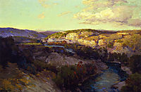 Cliffs on the Guadalupe, onderdonk