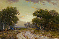 Evening Near Jackson, Southwest Texas, onderdonk
