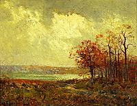 Fall Landscape, onderdonk