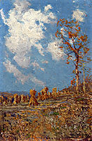 Field with Corn Shocks, onderdonk