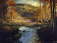 Forest Stream (Headwaters of the Guadalupe), onderdonk