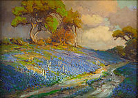 Late Afternoon in the Bluebonnets, S. W. Texas, 1913, onderdonk