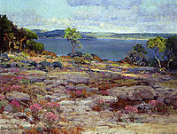Mountain Pinks in Bloom, Medina Lake, Southwest Texas, 1921, onderdonk