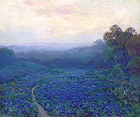 Path through a Field of Bluebonnets, onderdonk