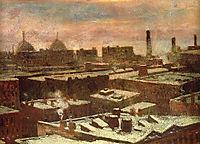 View of City Rooftops in Winter, 1902, onderdonk