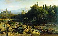 Crimea. Landscape with a river., 1868, orlovsky