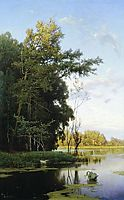 Lake in Gatchina park, 1881, orlovsky