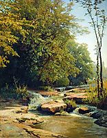 Landscape with mountain creek, orlovsky