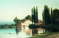 Landscape with river in Ukraine, orlovsky