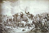 Battle of Cossaks with Kirgizes, 1826, orlowski