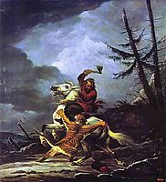 Cossack Fighting off a Tiger, 1811, orlowski