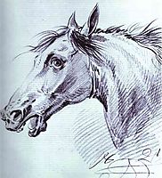 Head of a Horse, 1821, orlowski