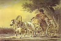 Peasant in a Cart, 1812, orlowski